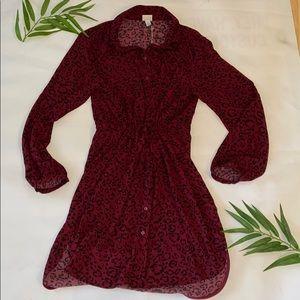 A new day Red cheetah print dress